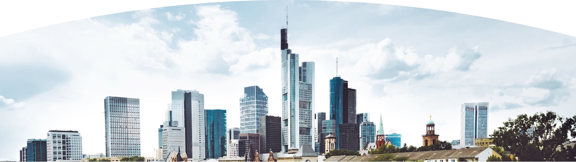 High rise commercial and real estate buildings Frankfurt